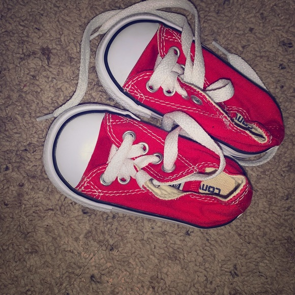 Converse Shoes   Baby Red Converse